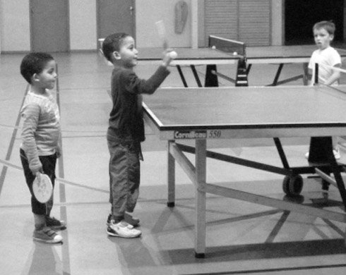Entrainement enfants tennis de table Jouy Vauréal